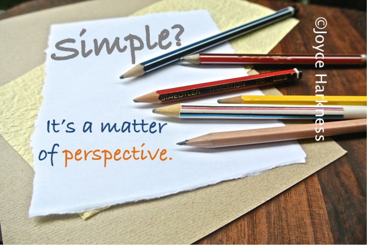 Simple is a matter of perspective
